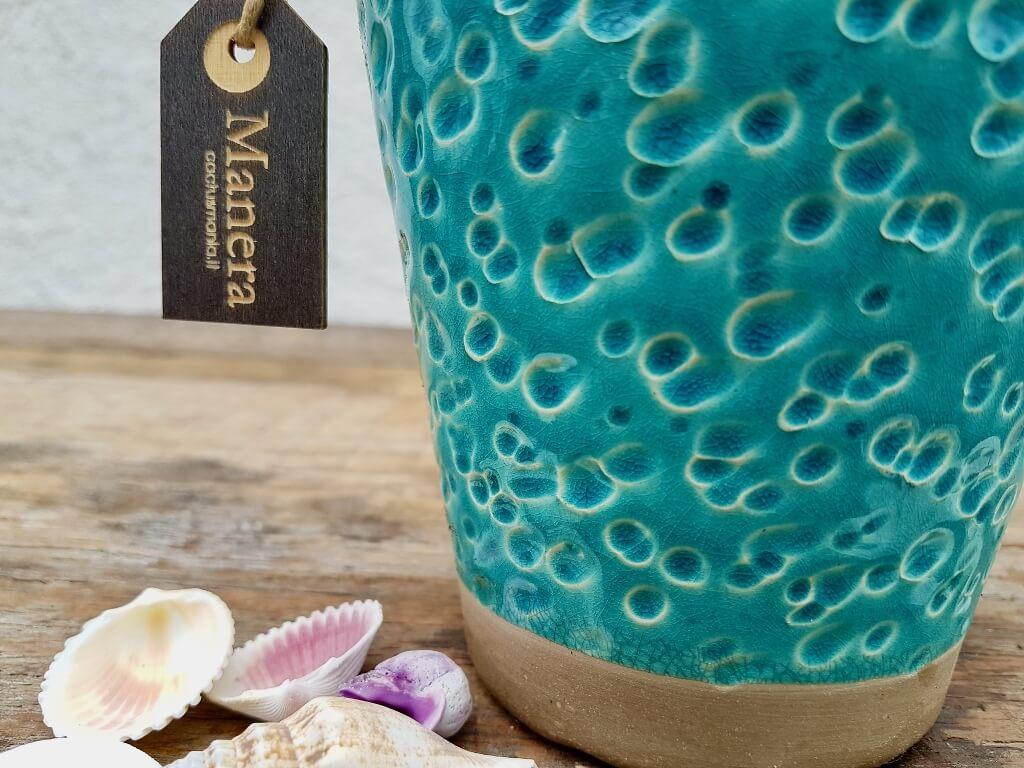 Gasteraloe Green Ice vaso ceramica azzurro